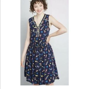 ModCloth Cafe au Soleil Sleeveless Dress Size S
